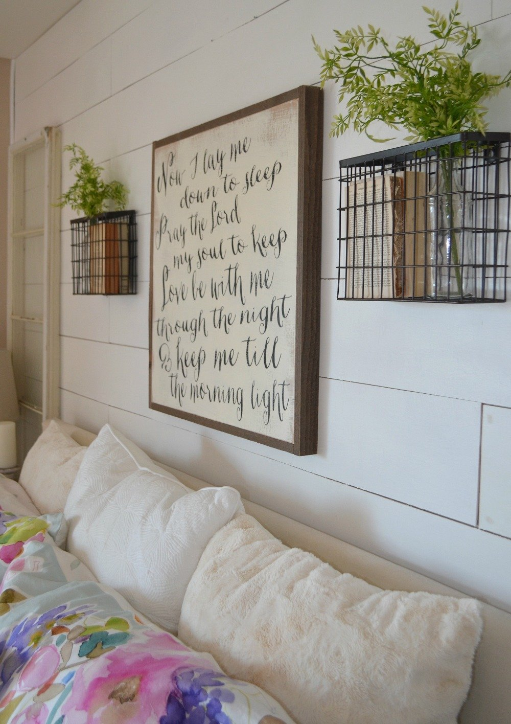 Master Bedroom Spring Tour. Simple spring decor ideas for the bedroom.