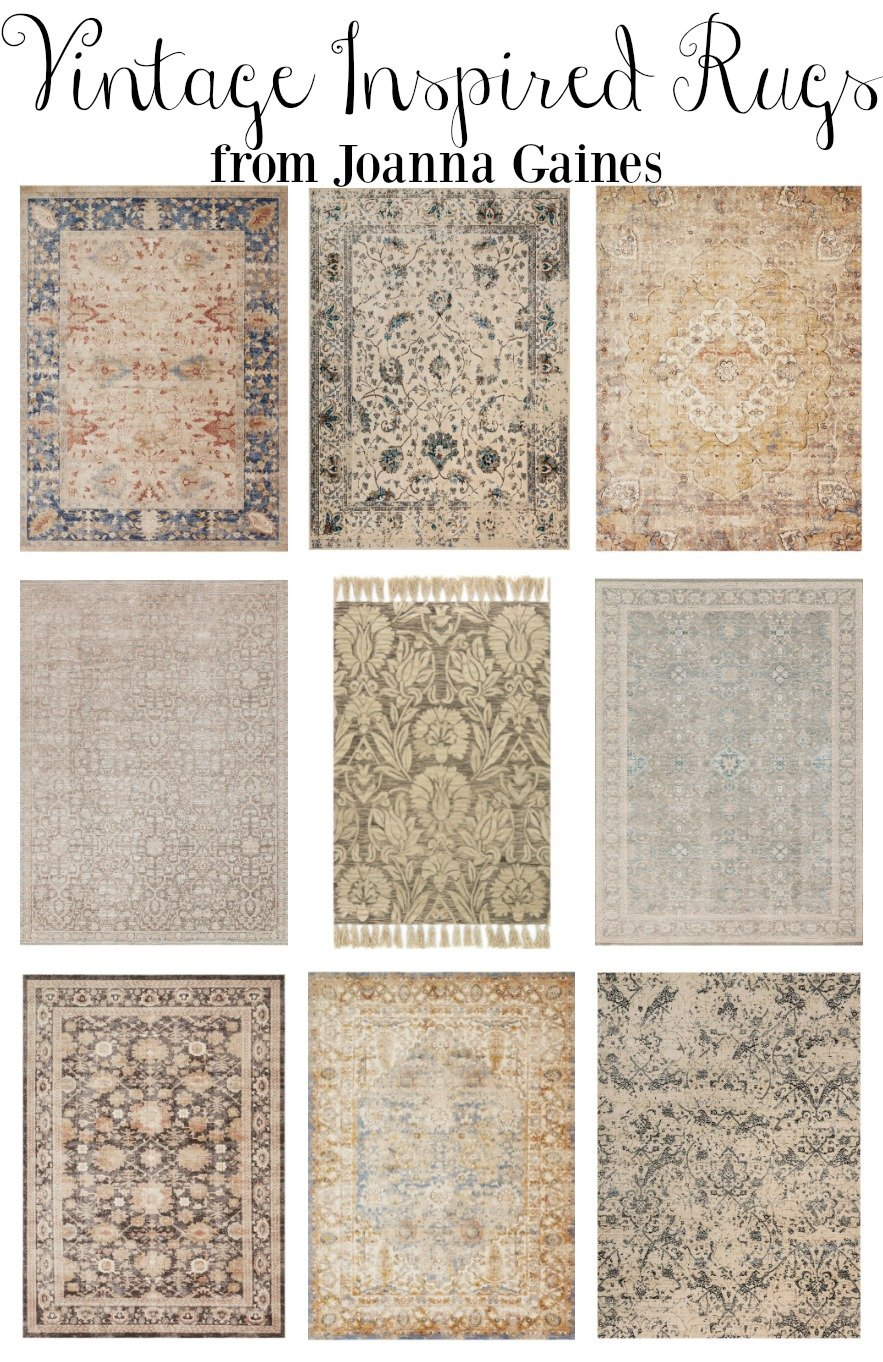 Vintage Inspired Area Rugs