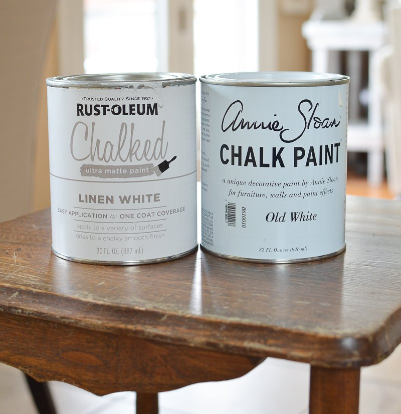 Annie Sloan Chalk Paint vs Rust-Oleum Chalked Paint