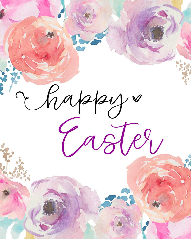 picture regarding Happy Easter Printable named Joyful Easter Printable - Sarah Pleasure Site