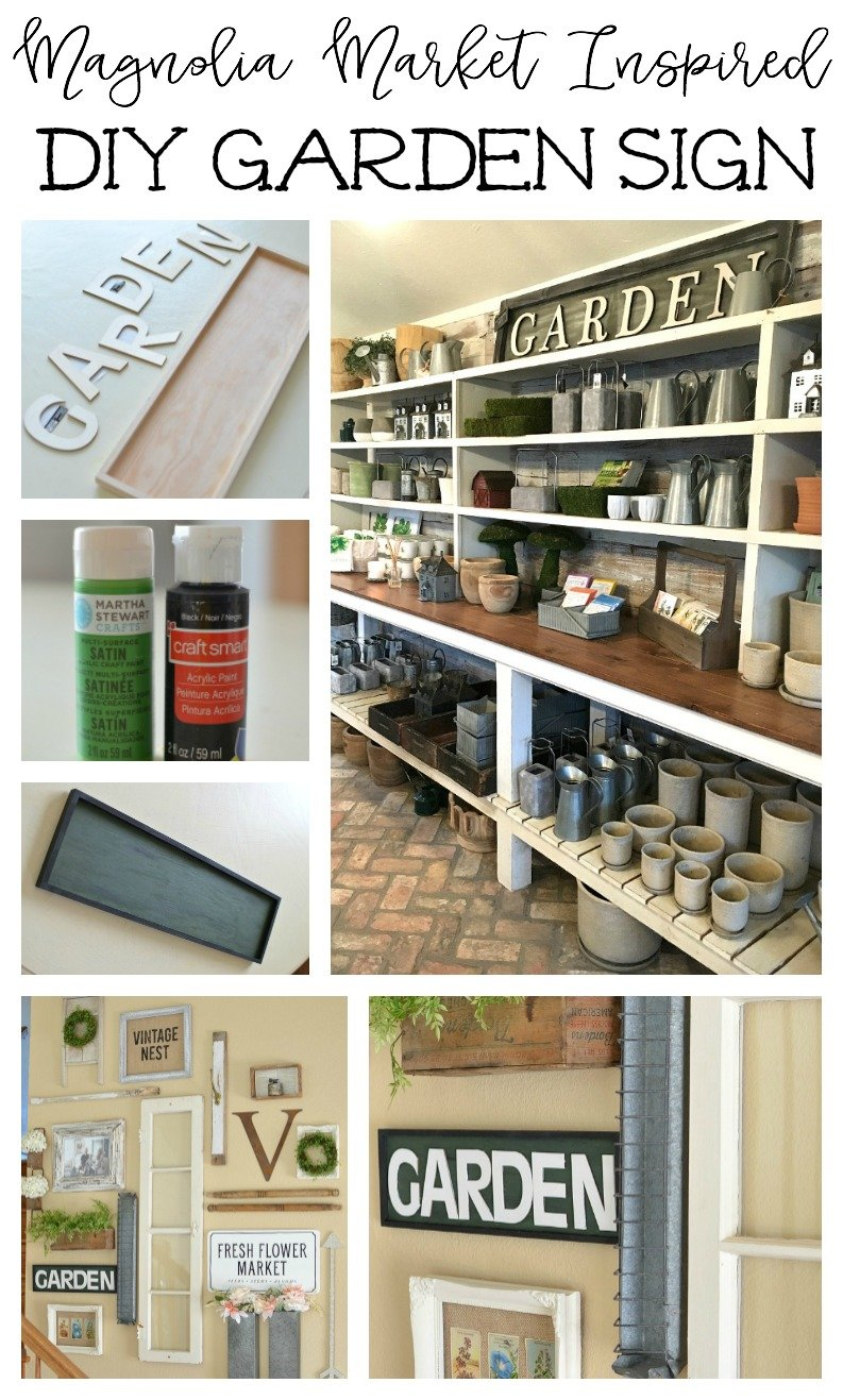 Magnolia Market Inspired DIY Garden Sign. Easy farmhouse style decor idea!