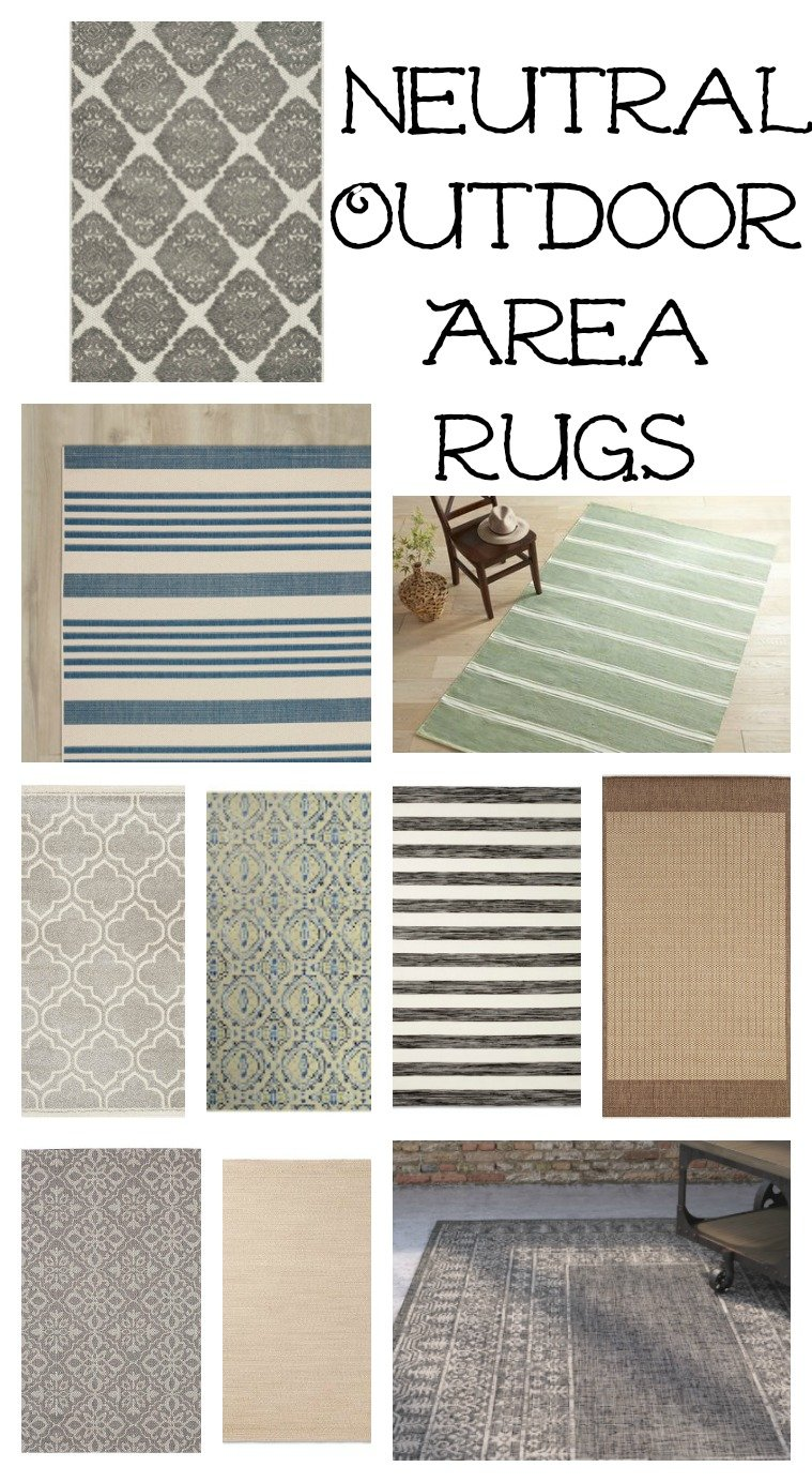 Neutral Outdoor Area Rugs