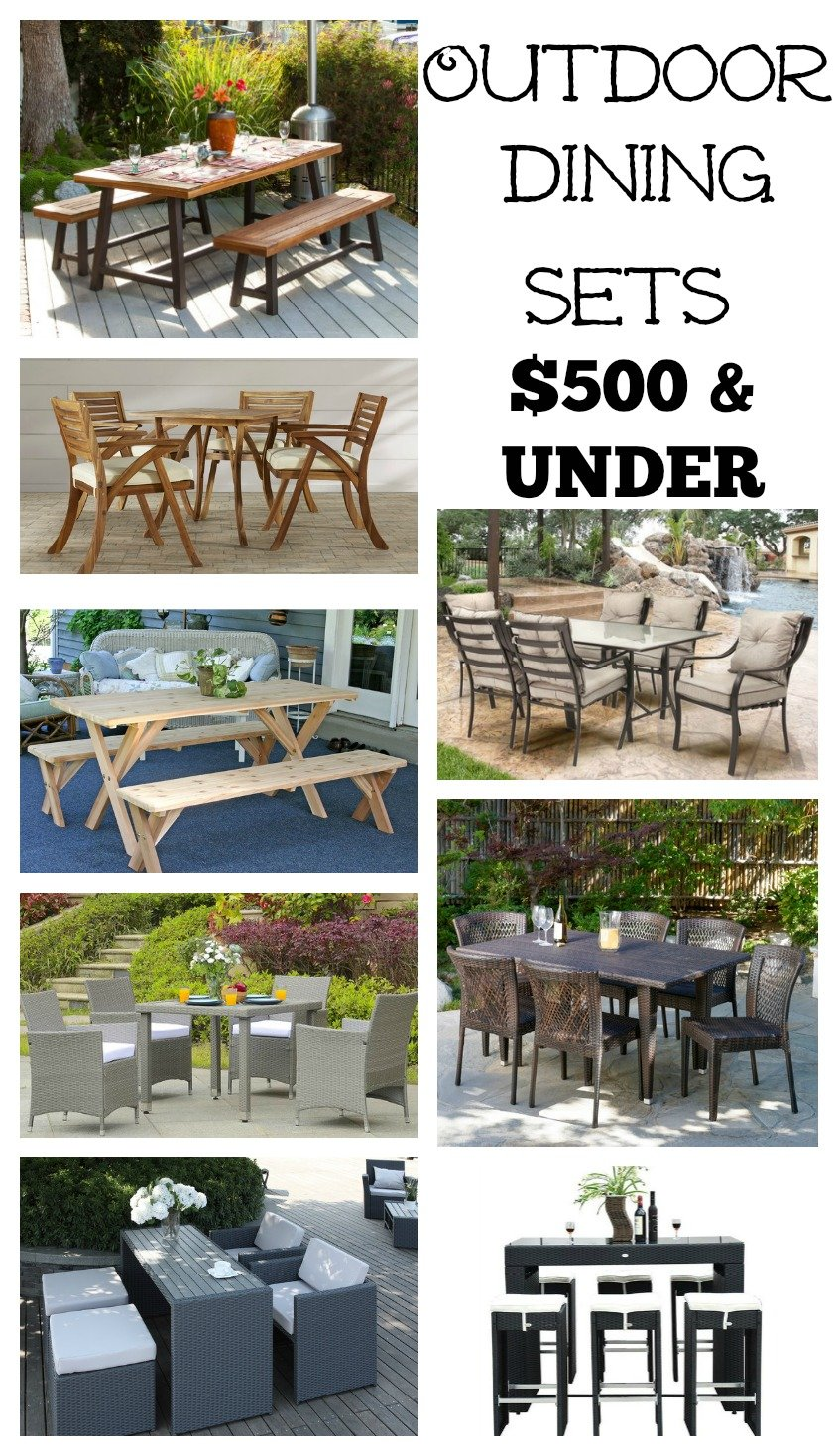 Outdoor Dining Sets $500 and Under