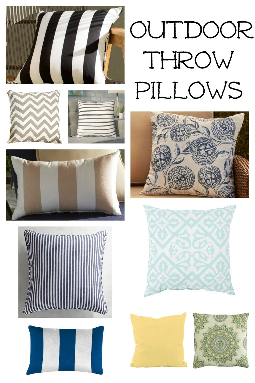 Affordable and style outdoor throw pillows