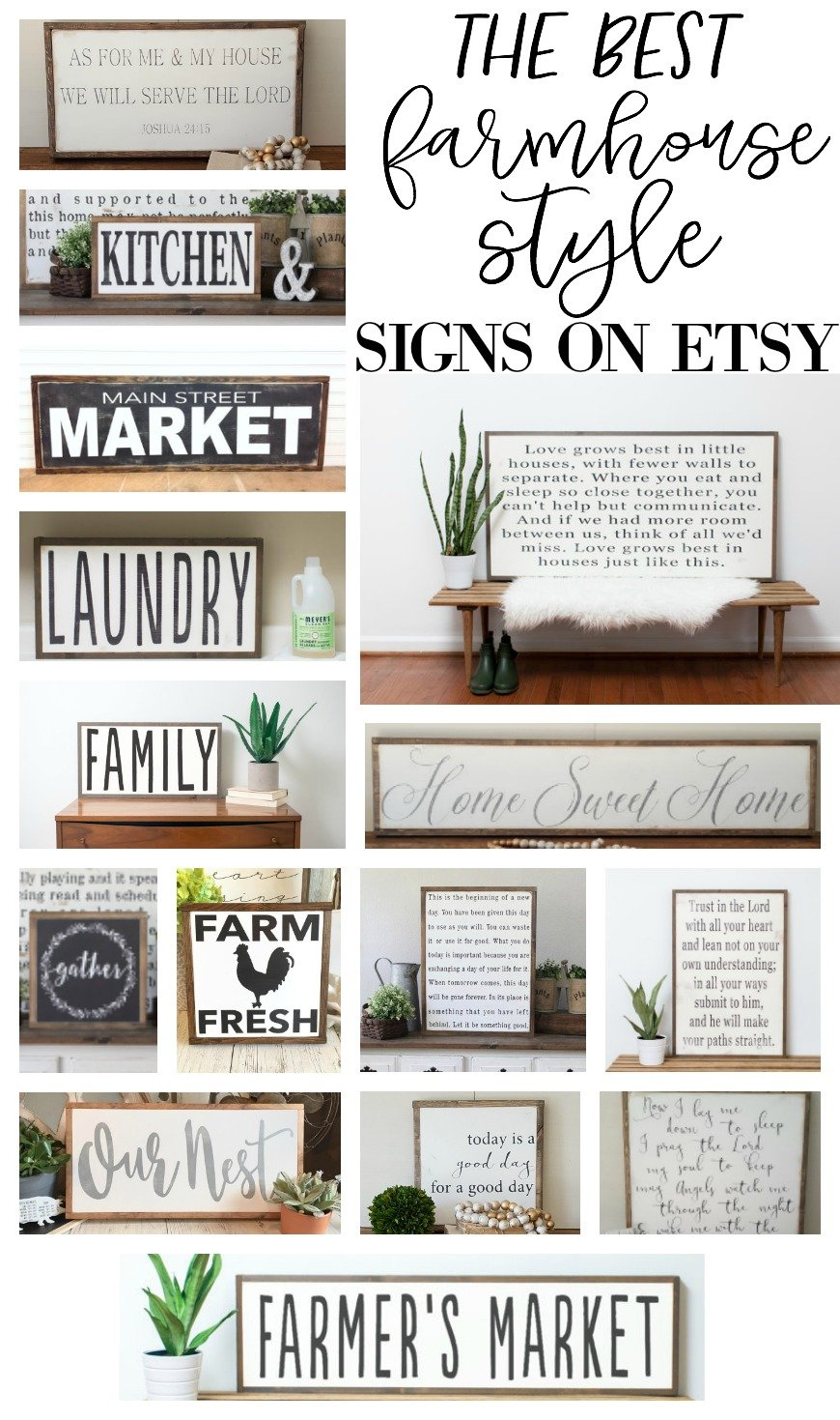 The Best Farmhouse Style Signs on Etsy