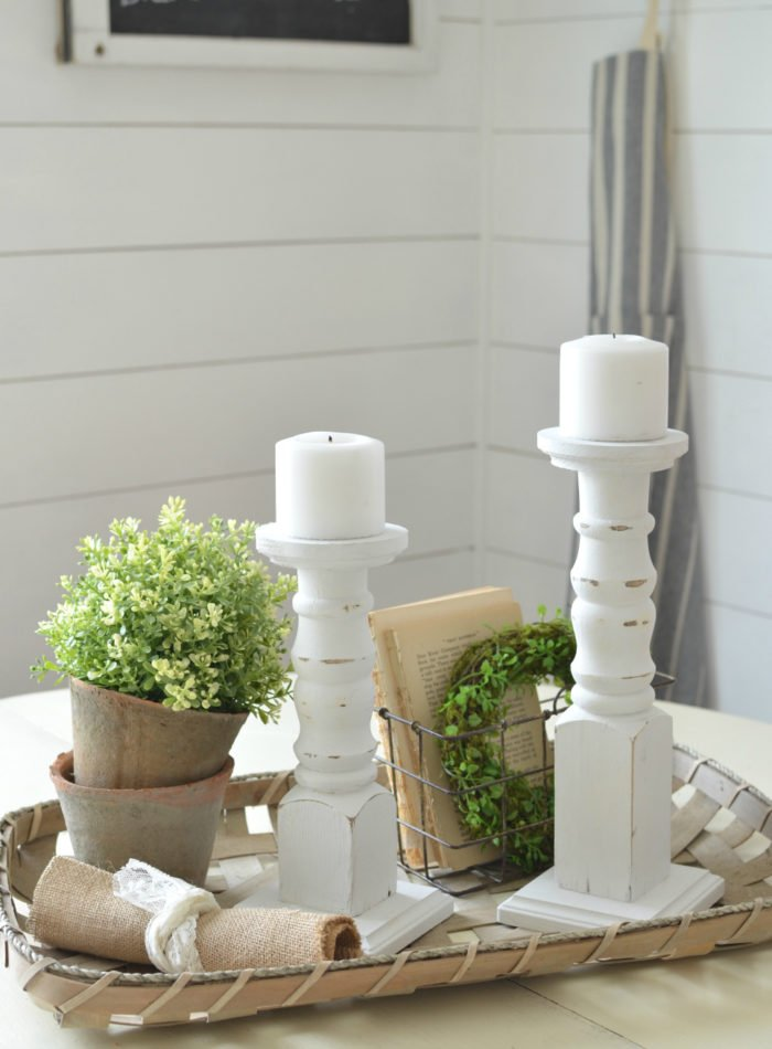 The Easiest DIY Farmhouse Candlesticks
