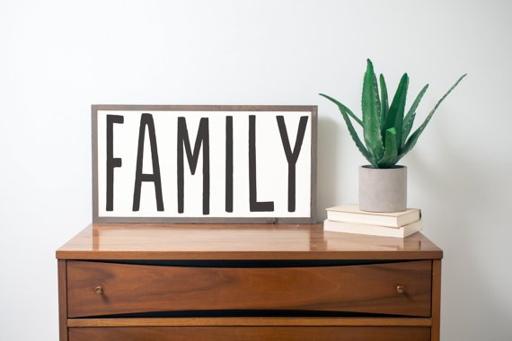 Wooden family sign. The Best Farmhouse Style Signs on Etsy