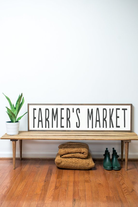 Farmer's Market sign. The Best Farmhouse Style Signs on Etsy