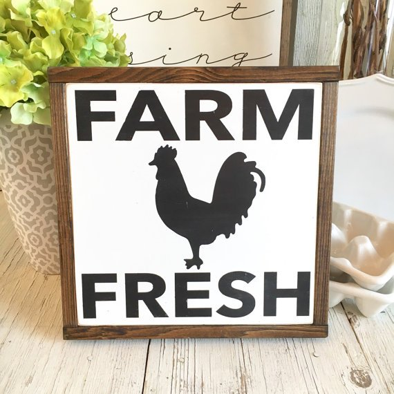 Wooden Farm Fresh Sign. The Best Farmhouse Style Signs on Etsy