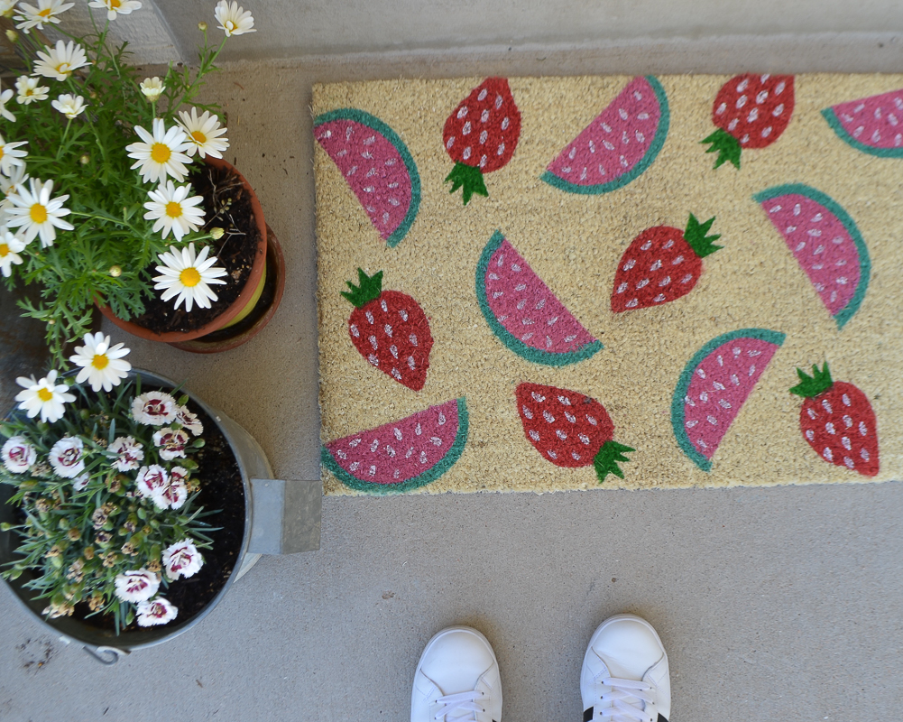 Watermelon and Strawberry Summertime Doormat