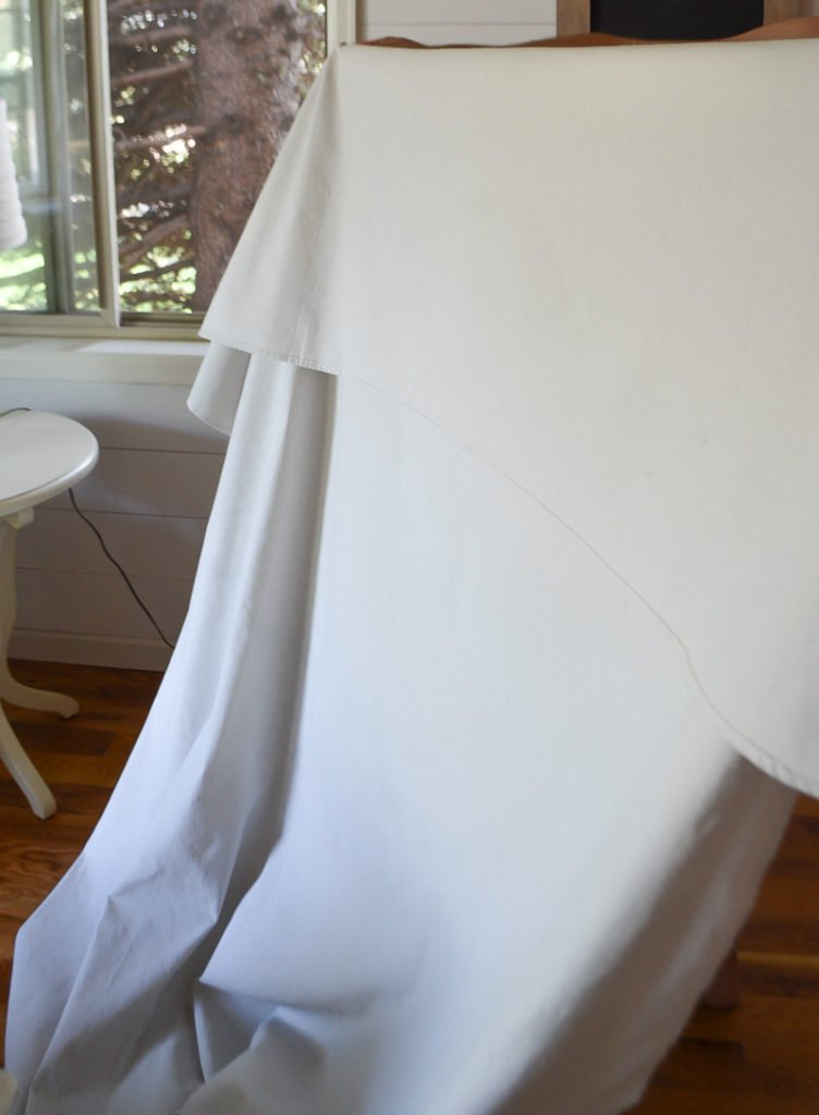 Step by Step Drop Cloth Curtains. Easy to follow tutorial that shows you exactly how to do DIY drop cloth curtains in your home!