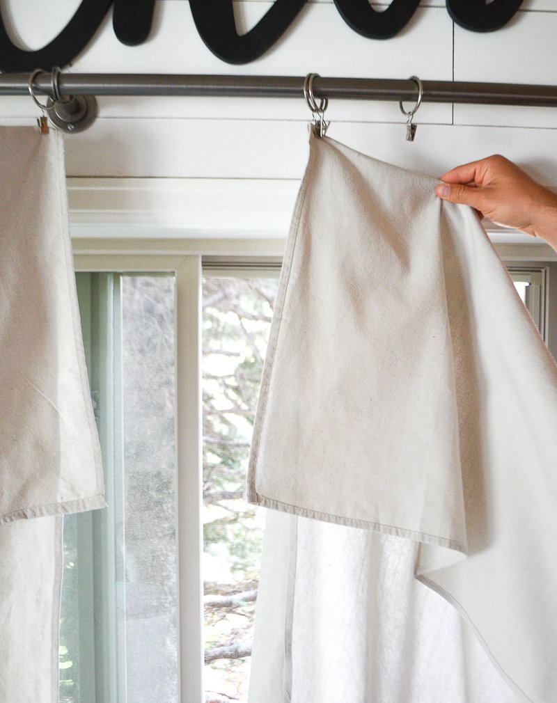 Step By Step Drop Cloth Curtain Tutorial