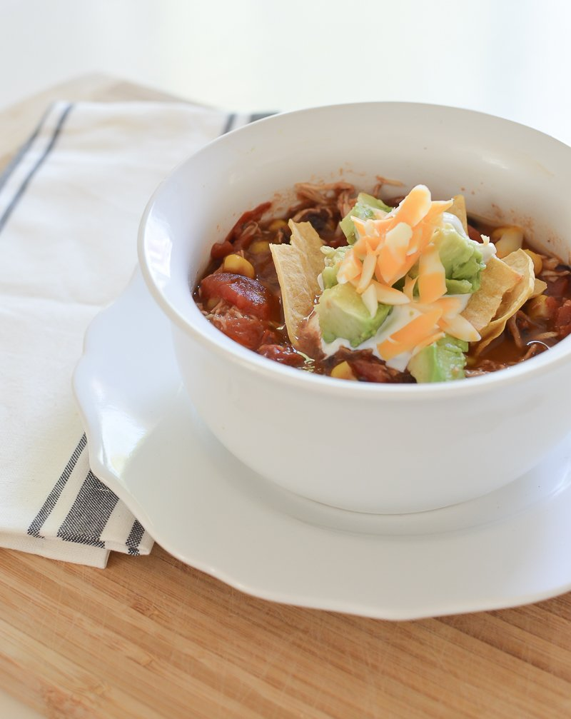 Easy and Delicious Slow Cooker Chicken Tortilla Soup