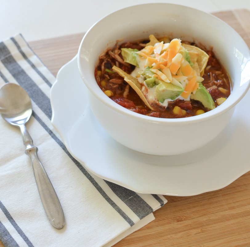 Easy Crockp Pot Chicken Tortilla Soup