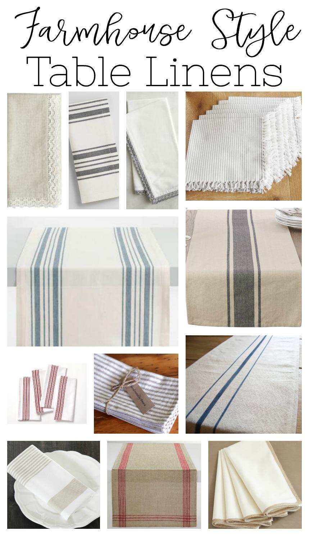 Farmhouse Style Table Linens