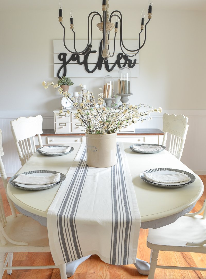 What to Know Before Painting Your Walls White. Lessons learned from painting our farmhouse style dining room white.