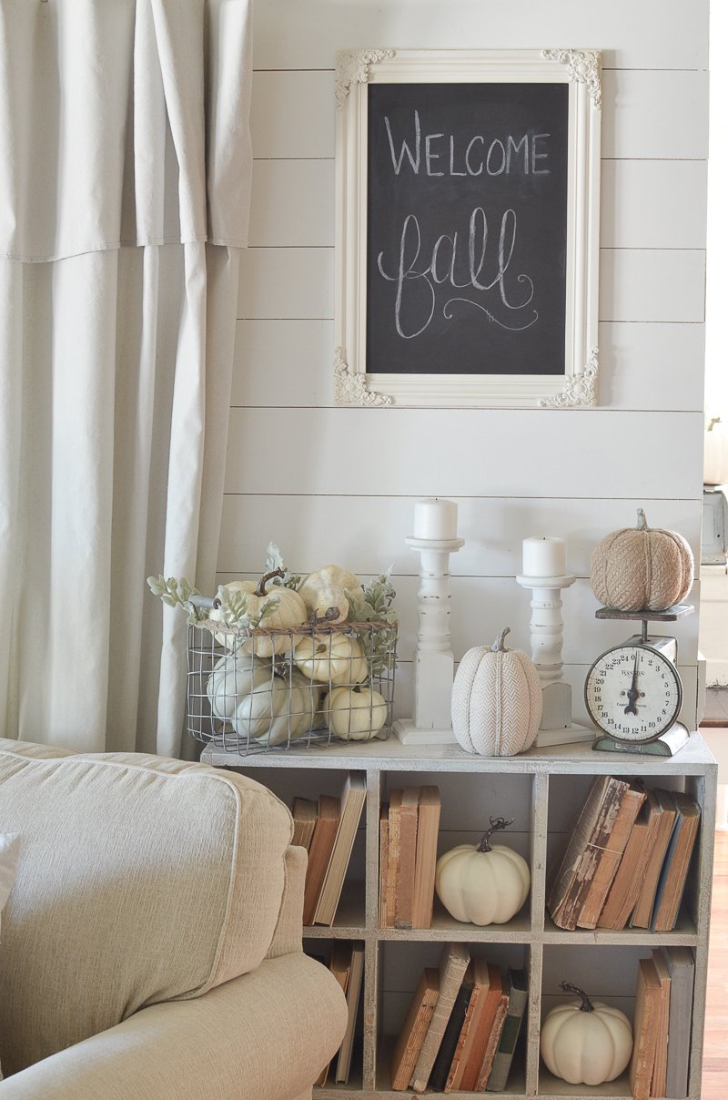 Vintage Cubby, Old Books and Fall Decor
