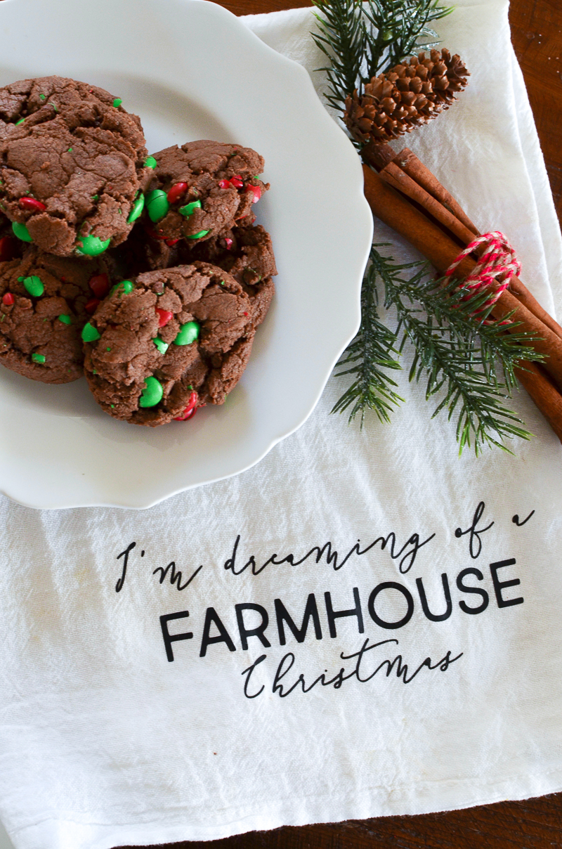 Double Chocolate Christmas Cookies