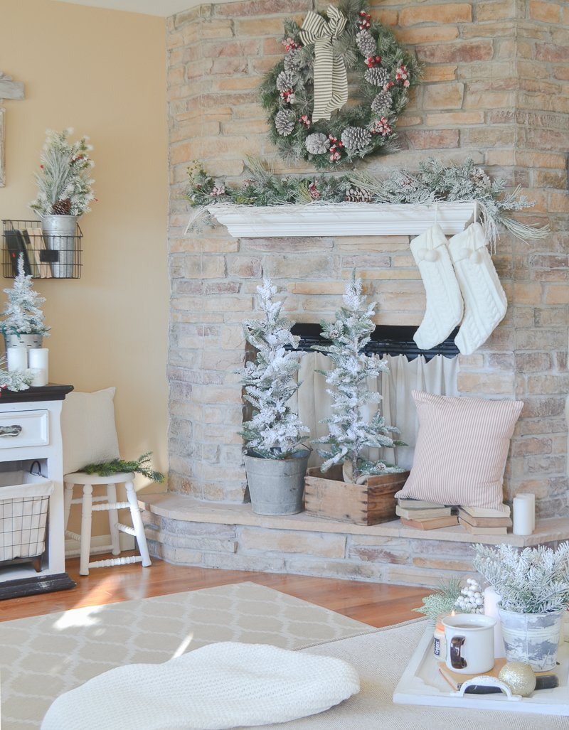 Cozy Farmhouse Christmas Living Room