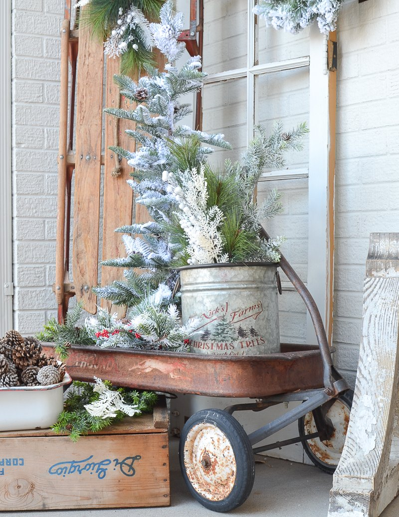 Simple Farmhouse Winter Porch