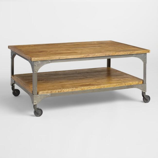 Farmhouse style industrial coffee table