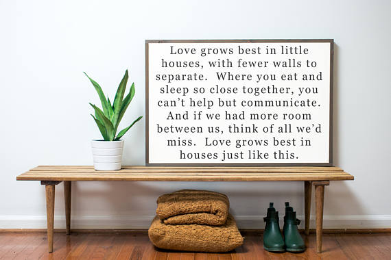 love grows best farmhouse style sign