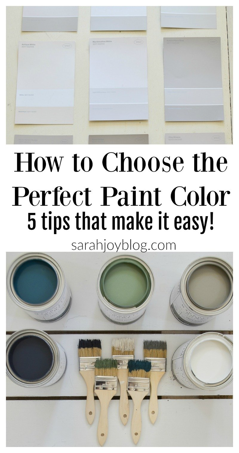 How to Choose the Perfect Paint Color. 5 tips that make it easy!