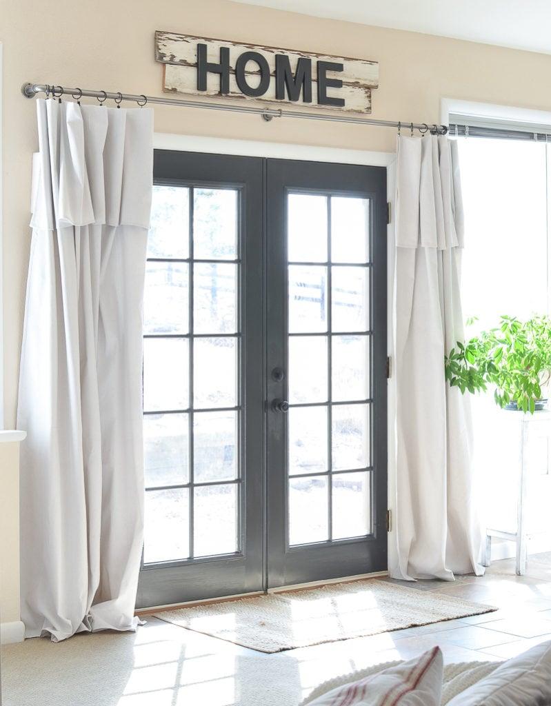 Farmhouse Style Decor How To Paint A Door Black Sarah Joy Blog