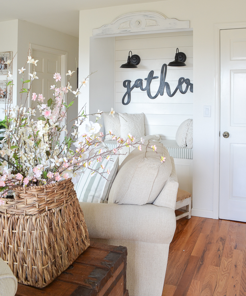Farmhouse Style Reading Nook Update