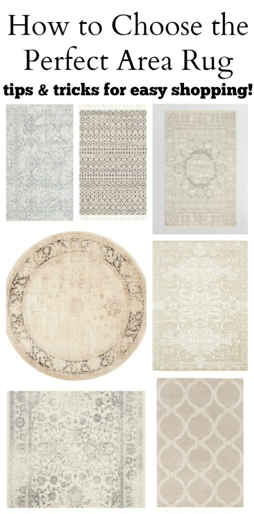 How to Choose the Perfect Area Rug for your Home. Tips and tricks for easy shopping!