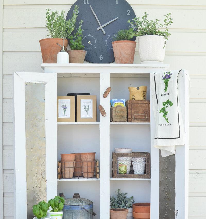 Outdoor Summer Garden Cabinet