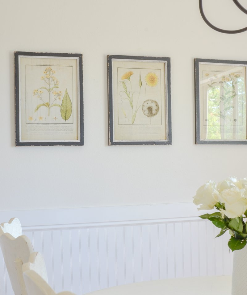 Farmhouse style botanical prints