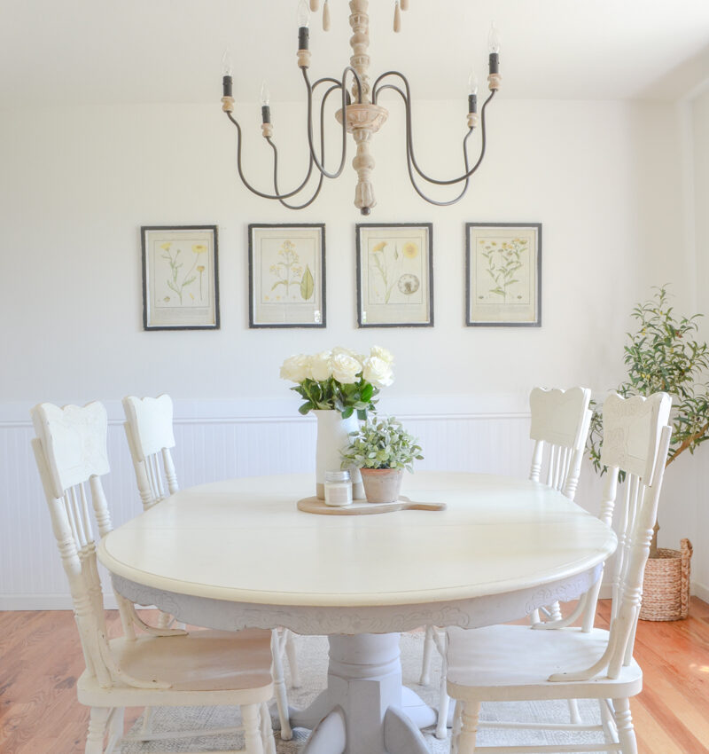 Botanical Prints A Simple Dining Room