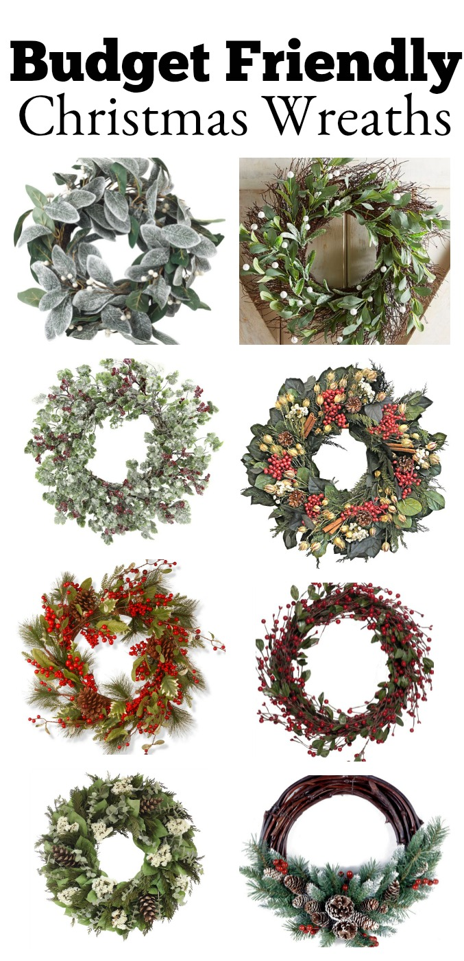 The best affordable Christmas wreaths.