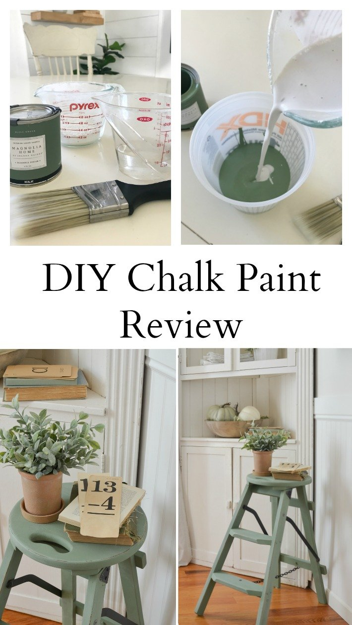 DIY Chalk Paint Review. Testing out DIY chalk paint on an old wooden stool. #chalkpaint #paintedfurniture #ascp #DIY