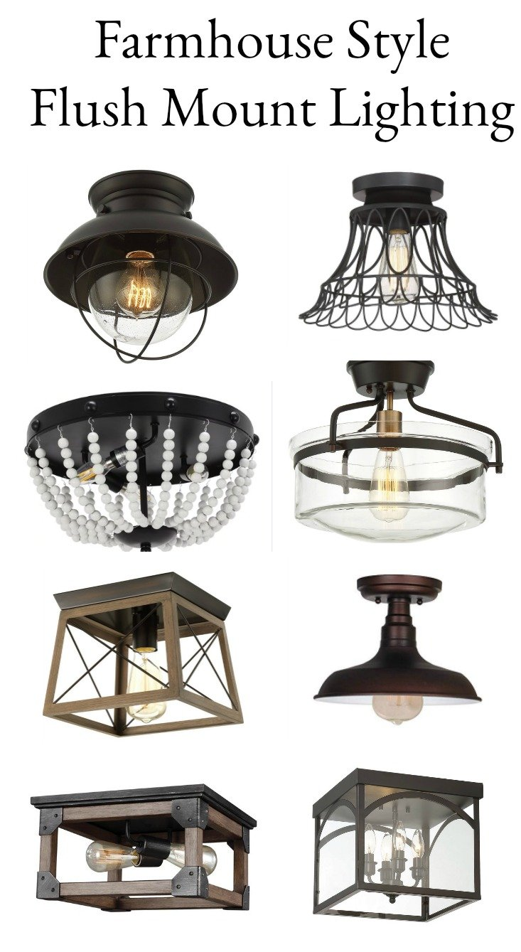 Farmhouse style flush mount lighting. Affordable mount lighting options for any room in your home.