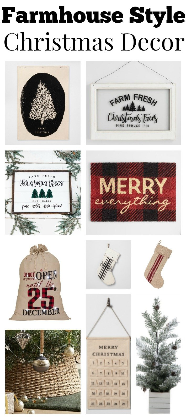 The Best Farmhouse Style Christmas Decor