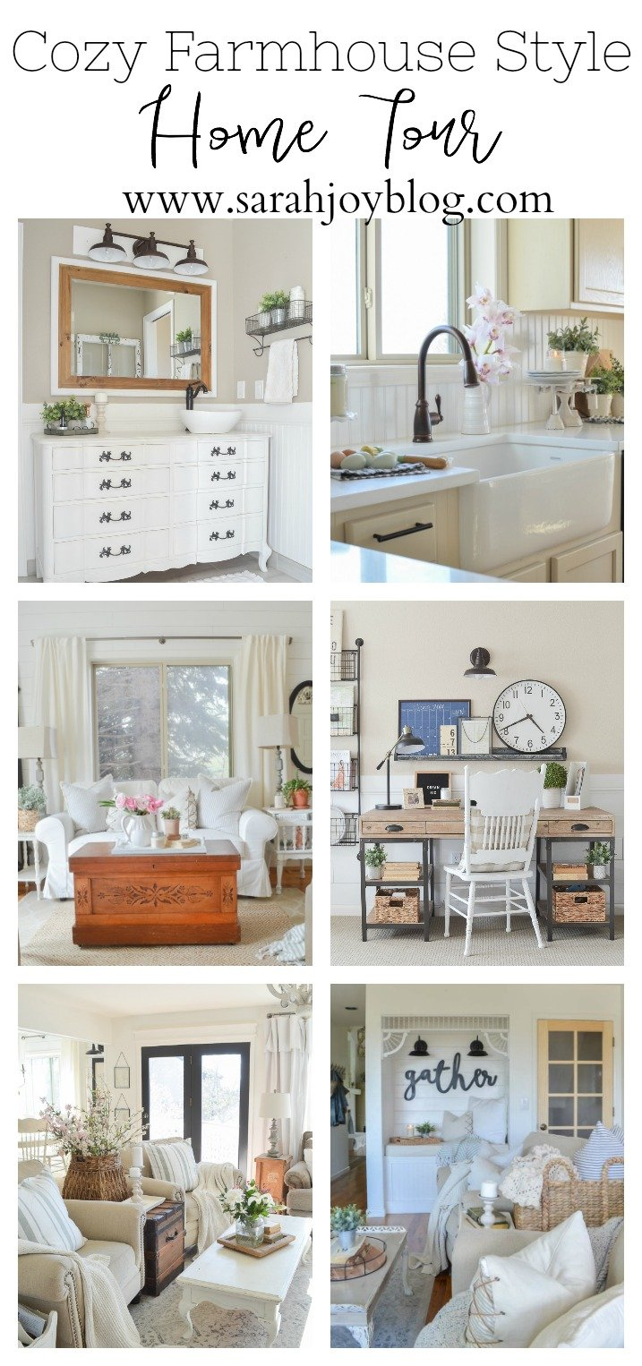 Cozy Farmhouse Style Home Tour. Cottage and farmhouse style ideas for your home!
