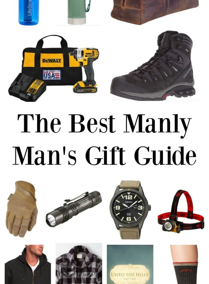 The Best Manly Man's Gift Guide 2018. Great gift ideas for men in law enforcement, firefighters, military, and outdoor enthusiasts.