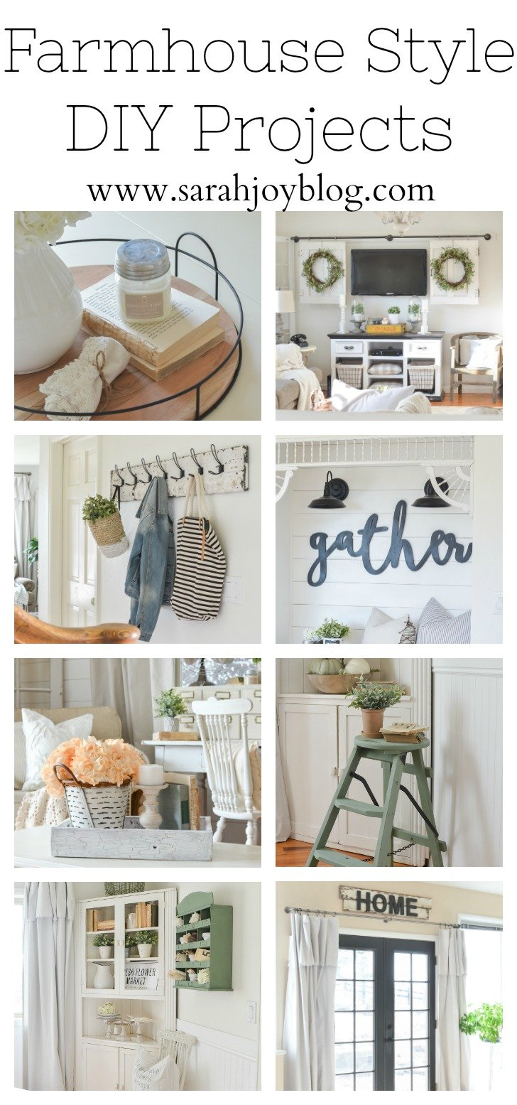 Farmhouse Style DIY Projects. Easy and affordable DIY projects for the modern farmhouse.