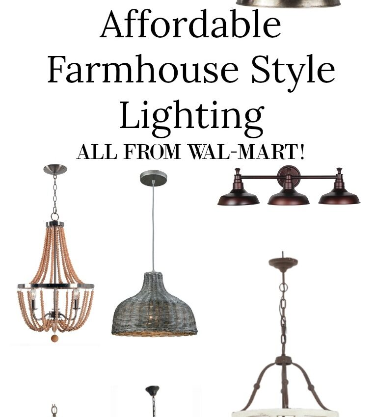 Affordable Farmhouse Style Lighting from Wal -Mart