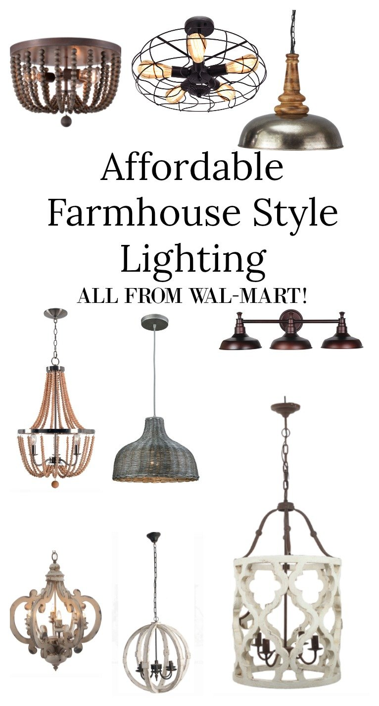 Affordable Farmhouse Style Lighting from Wal-Mart!