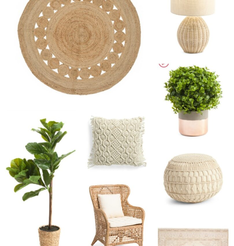 Farmhouse finds from TJ Maxx. Affordable farmhouse style decor and furniture.