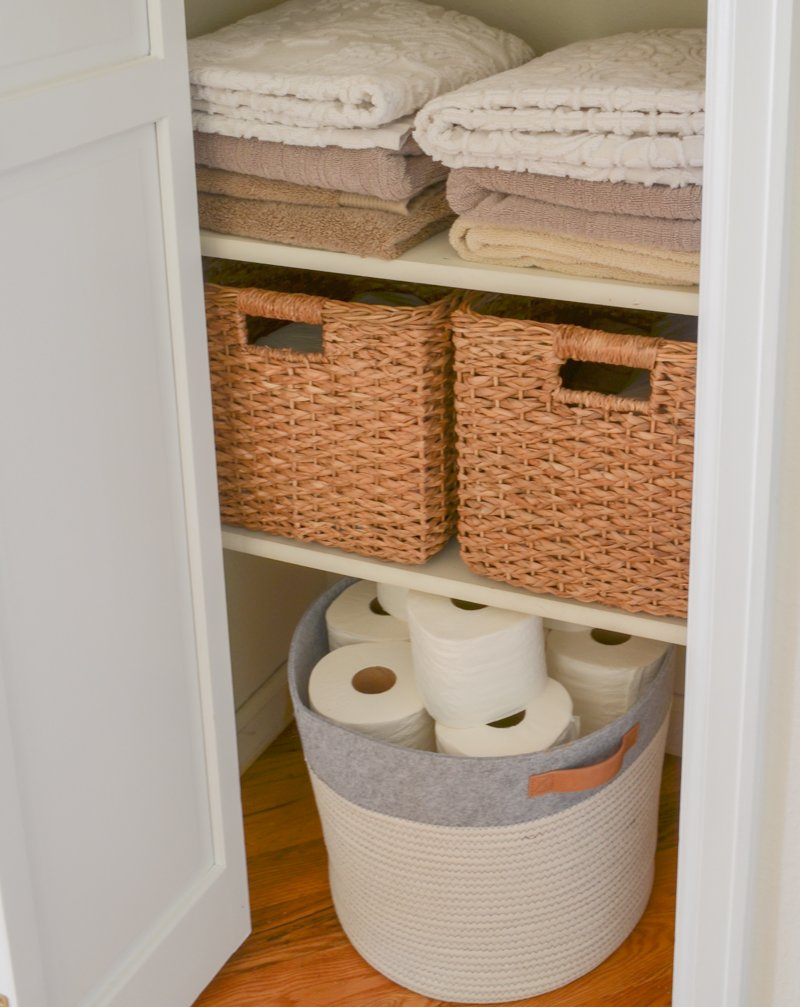 Small linen closet makeover.