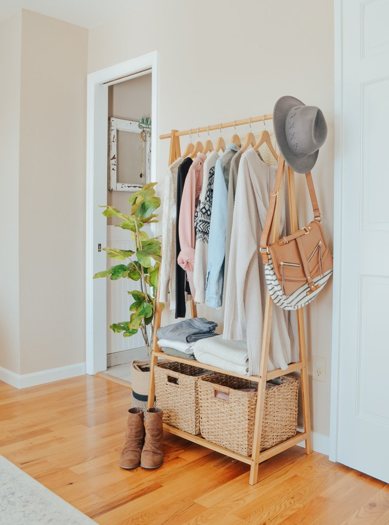An Easy Storage Solution for a Small Closet - Sarah Joy Blog