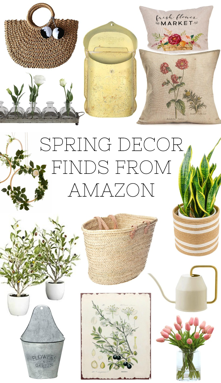 Spring decor from Amazon. Affordable spring home decor finds all from Amazon.