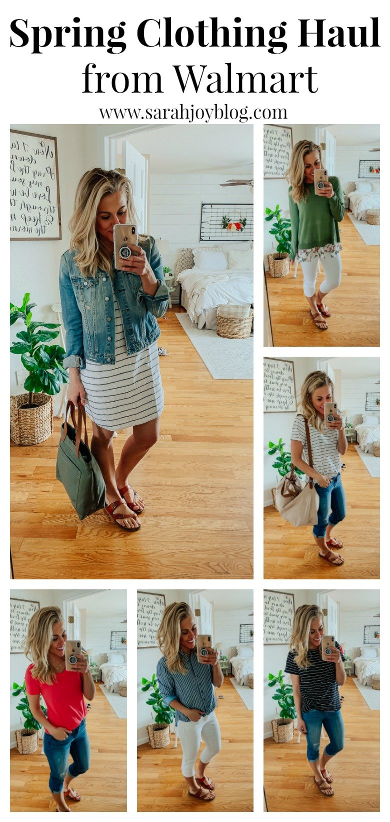 49b28e09669 Spring clothing haul from Walmart. Affordable spring outfit ideas for  spring and summer.