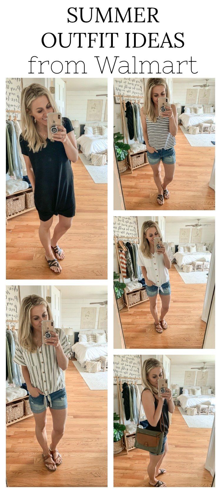 Summer Outfit Ideas from Walmart. Cute and affordable outfits.