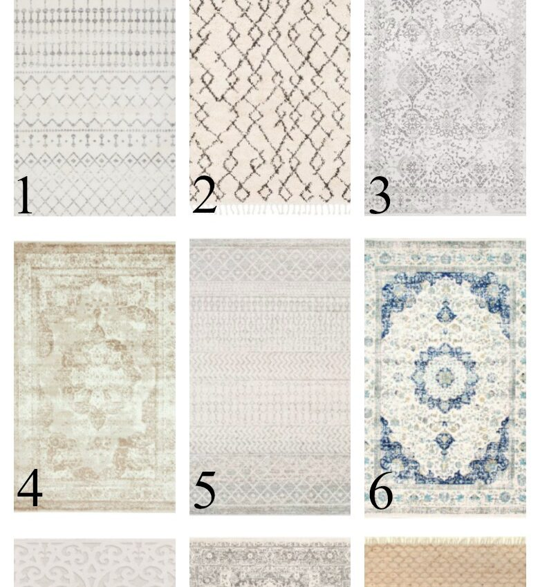 Affordable Area Rugs with Farmhouse Style