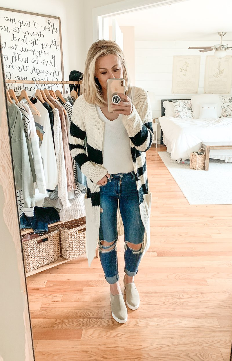 5 Affordable Cardigans from Amazon. Easy fall outfit ideas!